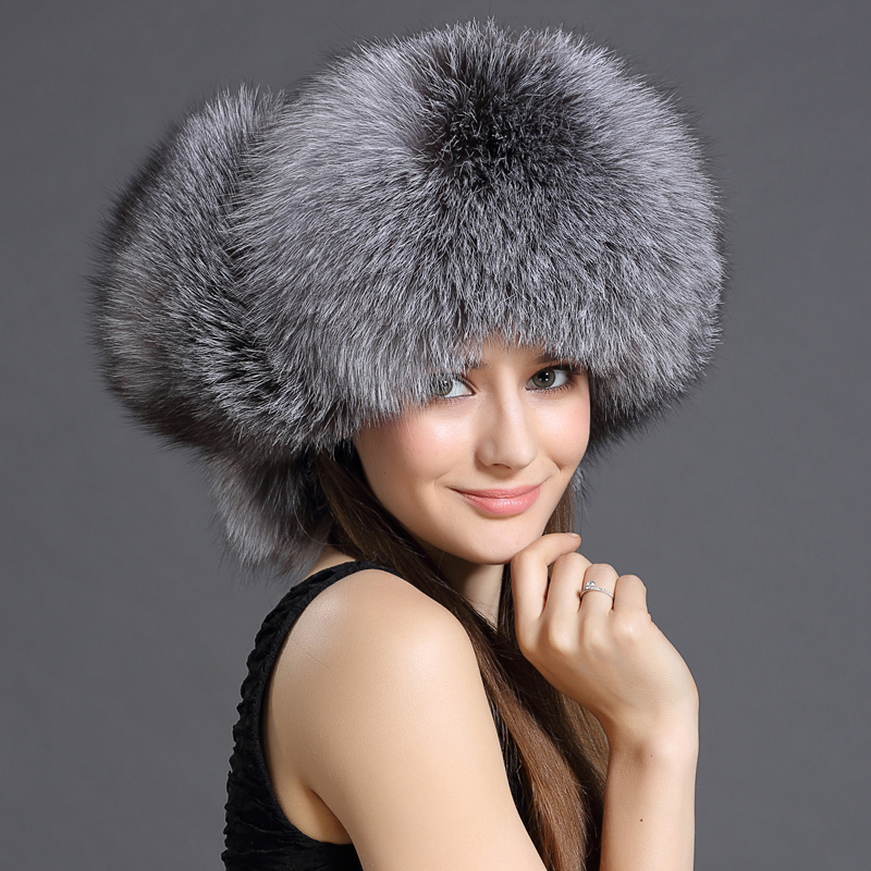 Real Rex fox Fur Bomber Hats Fox Fur Top Winter Solid Real Fur Genuine Women Fur Caps Female Headgear For Adult Women and Girl(China (Mainland))