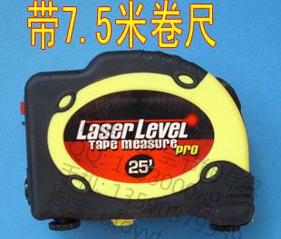 Laser level laser cast line instrument spirit level marking instrument with a tape measure 7.5 meters