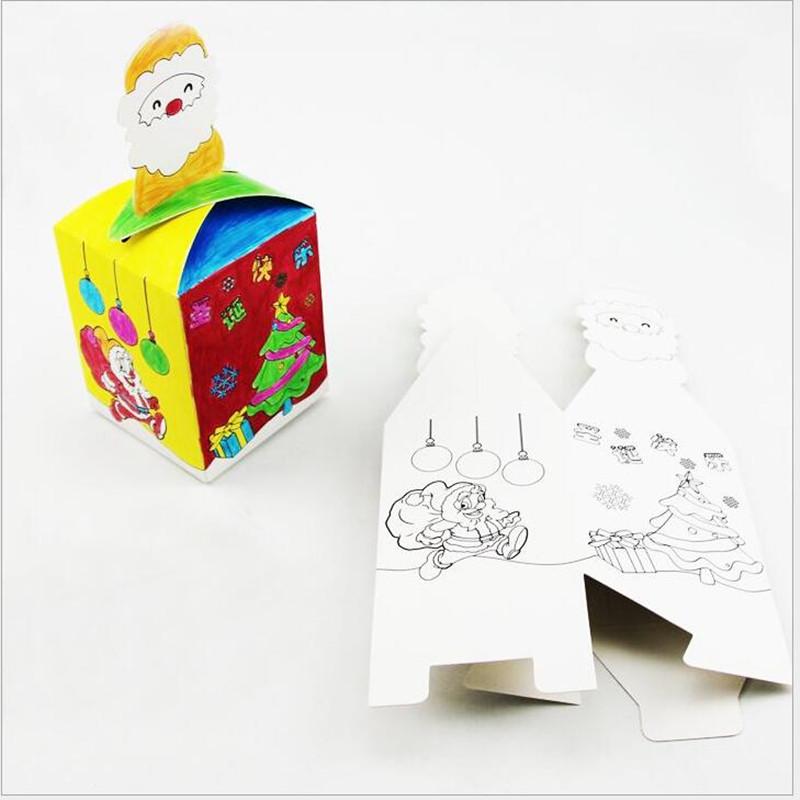 Christmas Eve Apple Children DIY Craft Materials Nursery Box gift box Child Christmas candy Kindergarten manual class(China (Mainland))