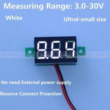 battery monitor DC 3-30V car digital volt voltage panel meter gauge auto voltmeter battery monitor with White Led display