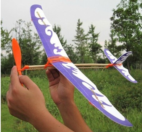 Diy Rubber Band Powered Aircraft Helicopter Model(China (Mainland))