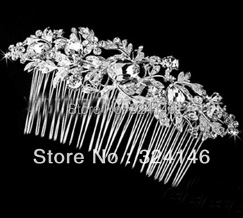2014 New style crystal luxurious wedding hair combs fashion hot sale Hairpins bride hair  jewelry retail / wholesale