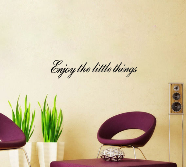 Free shippingDIY wall sticker Enjoy The Little Things Wall Decals Vinyl Stickers Home Decoration Wall Art Bed Room Wall Stickers(China (Mainland))