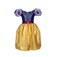 2016 New Girls Cinderella Dresses Children Snow White Princess Dresses Rapunzel Aurora Kids Party Halloween Costume Clothes