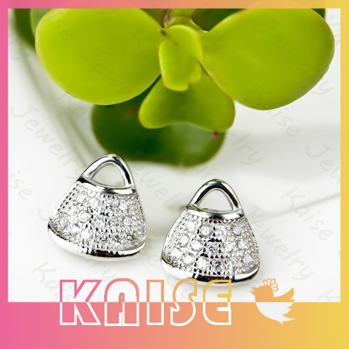 Fashion 2015 Yiwu Earring Supplier Crystal Handbag Ebay Earrings Beautiful Earring Design For Women(China (Mainland))