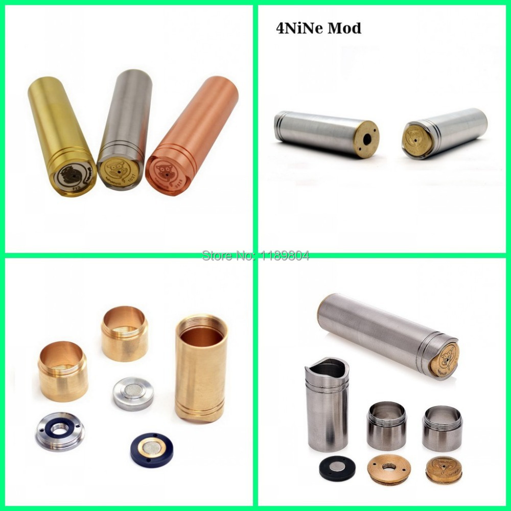 2014 new products e cig full mechanical mod clone cigarette stainless copper brass 4nine similar stingray panzer ecig