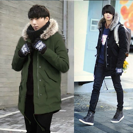 Winter Casual Fur Collar Outwear Coats Street Style Man Jacket ...