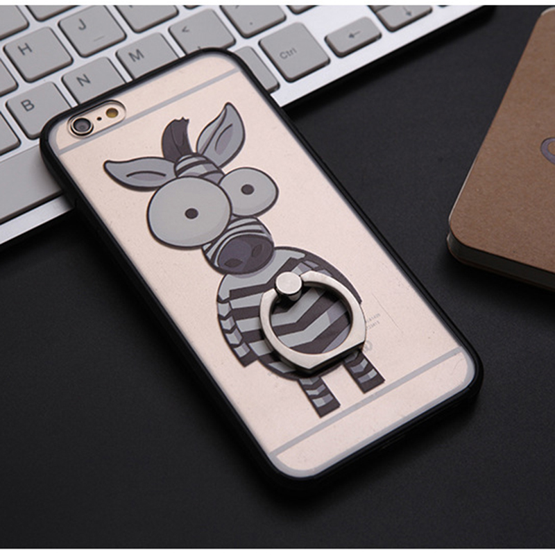 Multi Functional Cute Elephant Zebra Grip Holder Phone Case for Iphone 6 4.7 inch Coque Cover for Women Gift(China (Mainland))