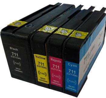 1 Компл. Для HP 711 Картриджи HP711 DesignJet T120 T520 Для HP T120 T520 Принтера Полный Чернил