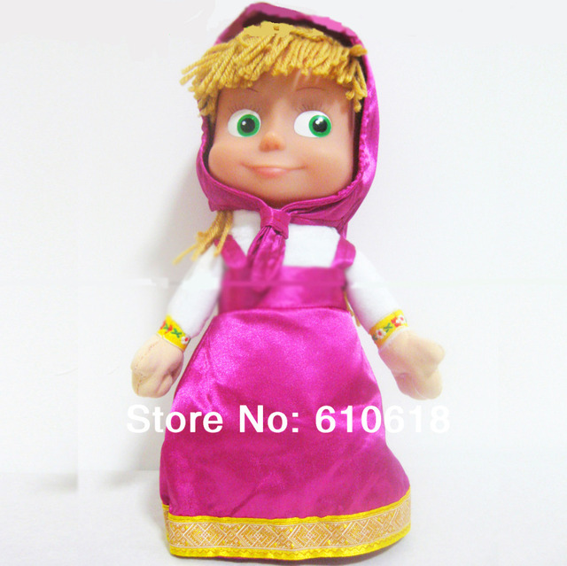 Hot Selling Russian Musical Masha And Bear Dolls Baby Learning Toys Kids Girls Boys Best Russian Gifts 1 Pcs