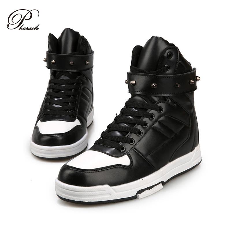 Fashion Rivet shoes men high top mens shoes casual flat heel(China (Mainland))