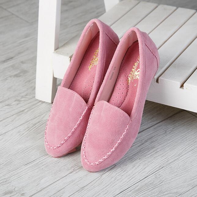 Plus Size 35-42 Women Driving Shoes Soft Nubuck Leather Woman Moccasins Footwear 2016 Spring Mother Casual Flock Loafers - China Resources Store store