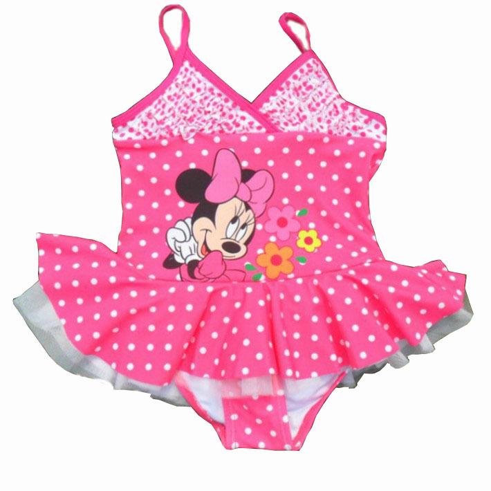 2015 new children girls one piece swimsuit rose red baby swimwear for kids girl children's swimwear(China (Mainland))