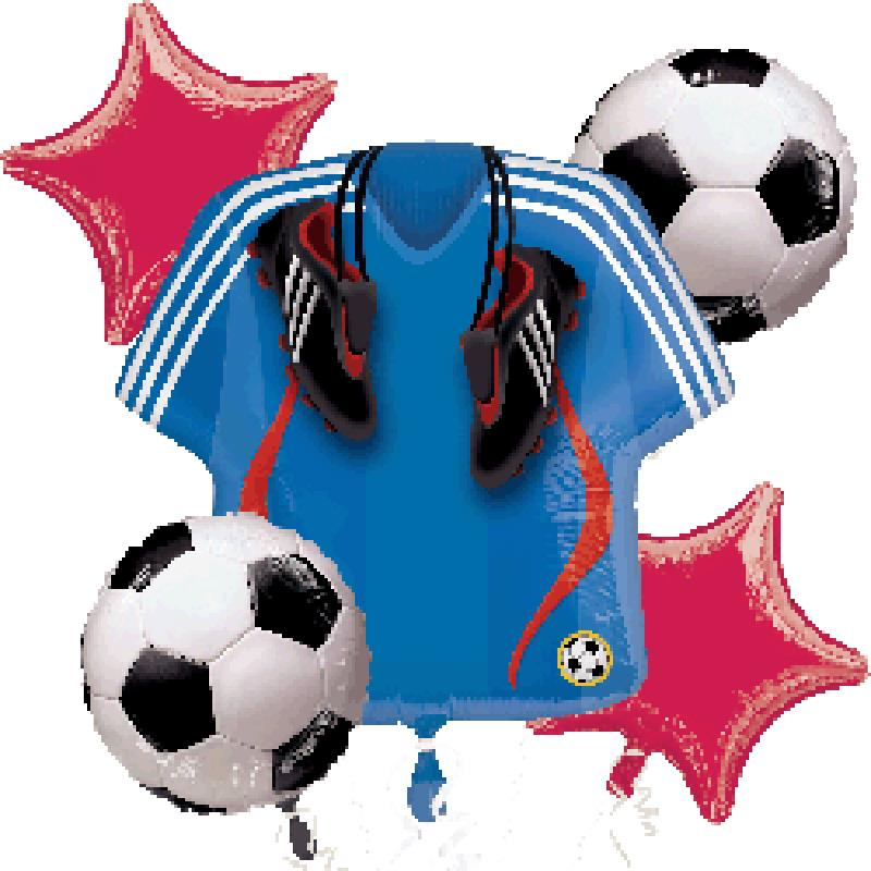 Boy baby 100 days shower party decoration kits blue soccer for Baby boy shower decoration kits