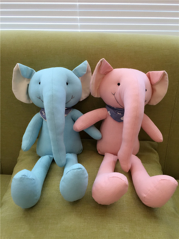 2016 New solid color long nose elephant Cloth Doll Toy Baby&Kids Animal Plush Toy Home &office Fabric Decoration Creative Gift(China (Mainland))