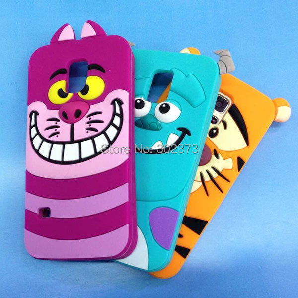 Tiger Monsters Inc. Sulley Marie Alice Cat Soft Silicone Rubber Cases For Samsung Galaxy S5 Mini Back Cover G800 3D Phone Case(China (Mainland))