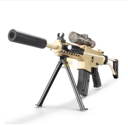 Children's outdoor toy gun M4 sniper rifle sending water to electric guns soft bullet gun