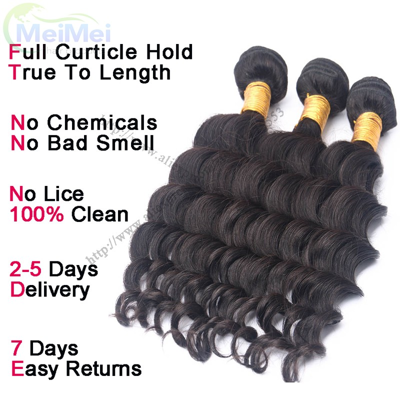 3 Bundles Ms Lula Hair Peruvian Loose Deep Virgin Hair Hot Selling 14″ Loose Deep Peruvian Remy Hair Thick Weft Human Hair