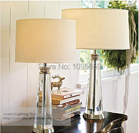 bedroom k9 crystal table lamps lights desk bedside standard lighting