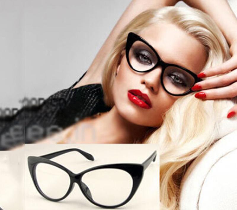 ca8df4cd3b 2015 NEW ARRIVE Sexy Vintage Fashion Cat-Eye Shape Women Lady Girls Plastic  Plain Eye Glasses HOT