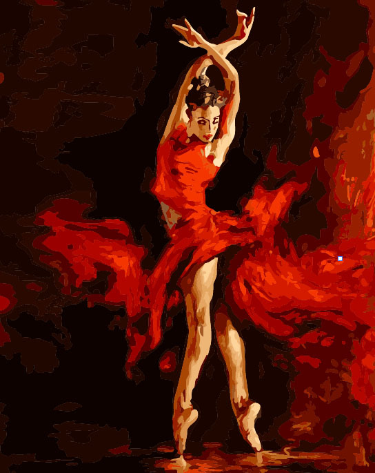 Frameless New arrival naruto digital oil painting diy oil painting ballet dance 40 50 naruto paint by number kits unique gift(China (Mainland))