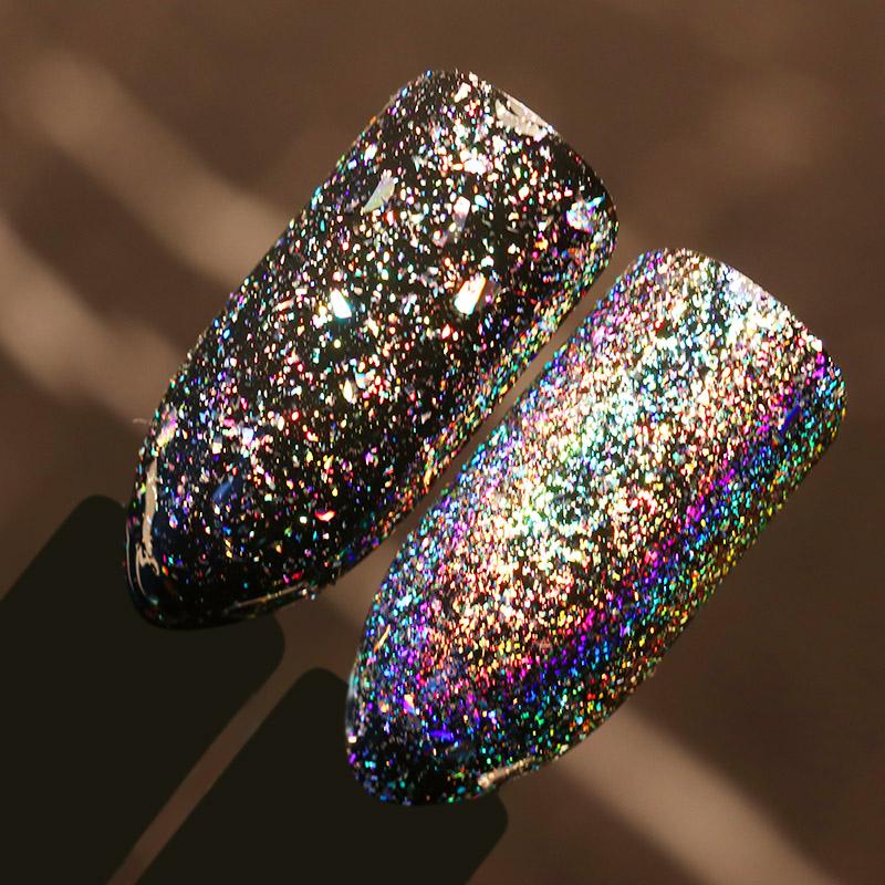 BORN PRETTY 1 Box 0.2g Galaxy Holographic Flakes Bling Laser Nail Sequins Holo Powder Glitter Paillette Nail Art Glitter