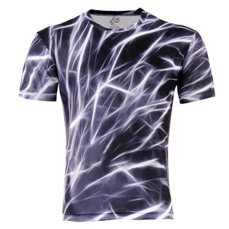 Men's New Fashion 3D Animal Creative T-Shirt,Finger/flash/crow/monkey 3d printed short sleeve T Shirt Large Size,S-6XL()