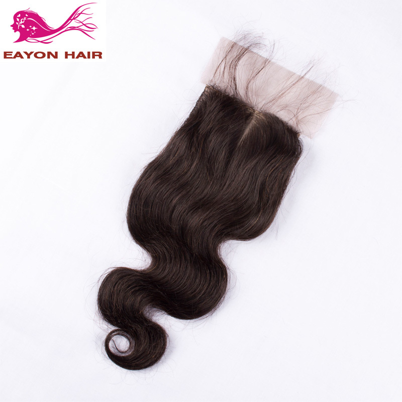 Peruvian Body Wave Silk Base Closure Eayon Hair Products Unprocessed Virgin Human Hair Silk Top Closure 3/Free/Middle Part 4*4<br><br>Aliexpress