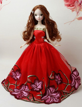 Fashion Princess Party Dress Evening Gown Mix Style Handmade Clothing Skirt Outfit Accessories For Kurhn Barbie Doll New 2015(China (Mainland))