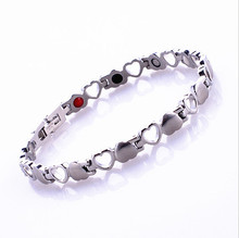 Free shipping! Fashion 4 in 1 Bio Heart  Germanium Energy Magnetic Bracelet With Magnet Health Benifits(China (Mainland))