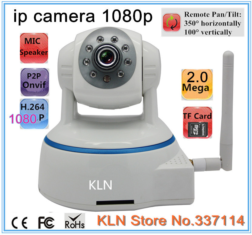 Гаджет  Home security ip camera 1080p wi fi wireless/wired p2p onvif ptz two-way audio support 32GB TF card One key configure wifi None Безопасность и защита