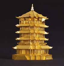 Diy 3D de Metal modelos juguetes educativos modelos / ensamble miniatura Metallic Nano Puzzle arquitectura antigua de china(China (Mainland))