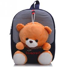 2016 New Cartoon Kid School Backpack For Child School Bag For Kindergarten Girl Baby Student School Boy Cute bear Backpack(China (Mainland))