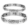 New Lovers Bracelet Fashion 316L Stainless Steel CZ Diamond Healthy Magnetic Bracelets For Men Women Jewelry