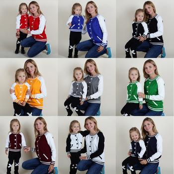 baseball Sweaters Family Matching Outfits Sports Wear
