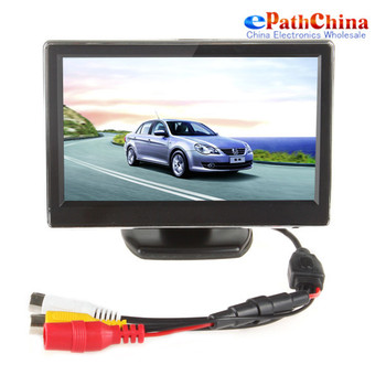 NEW 5 Inch TFT LCD Digital Car Rearview Monitor Reverse Backup Monitor Security Parking for VCD/DVD/GPS/ Rear view Camera