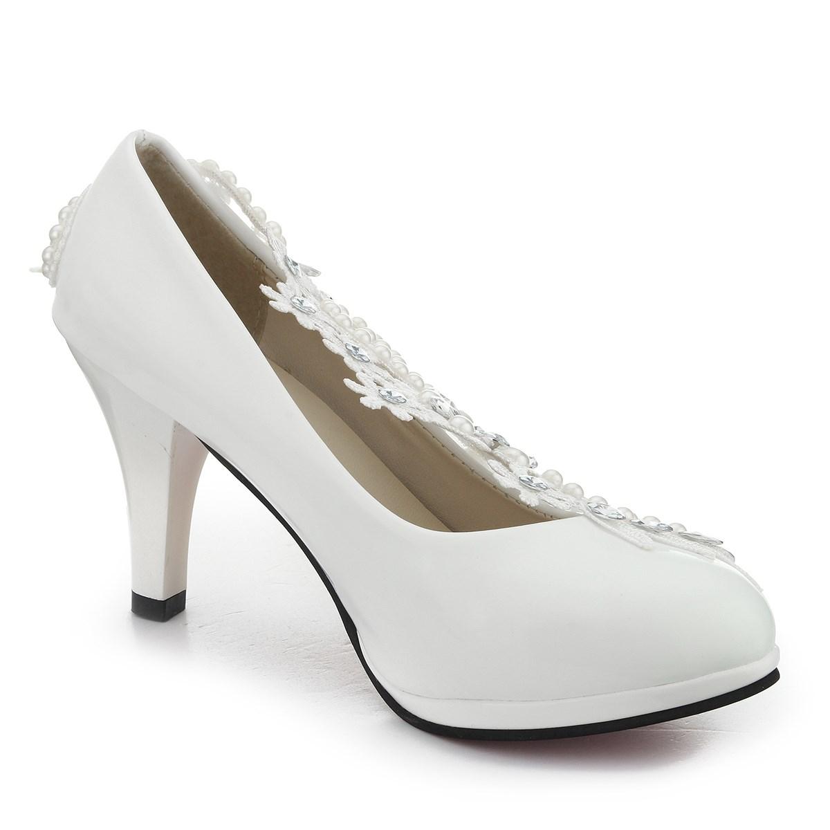 get cheap bridal shoes white aliexpress