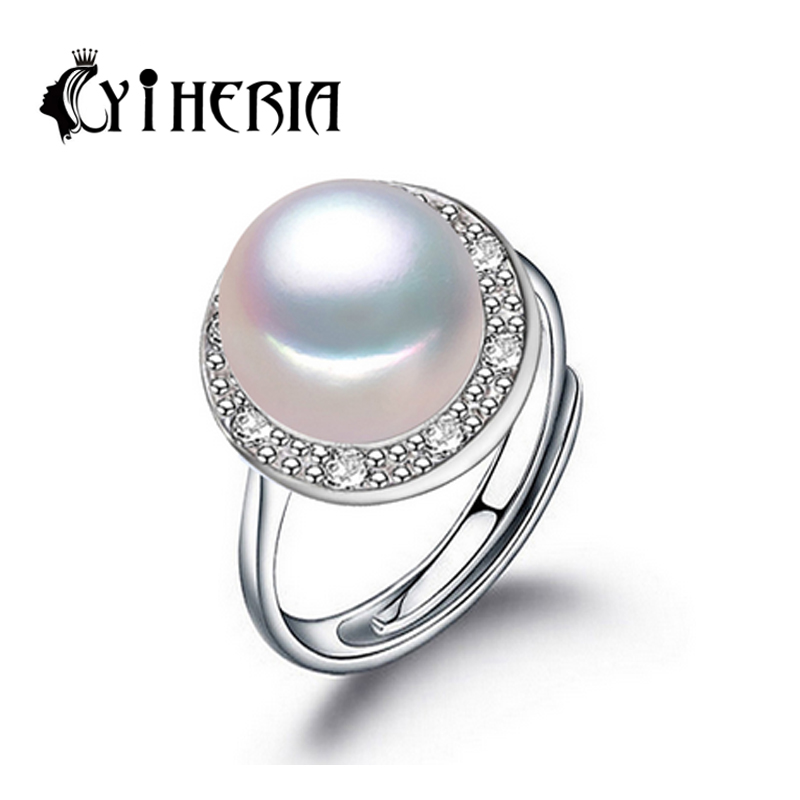 CYTHERIA pearl jewelry,genuine natural pearl ring,rings for women,925 sterling silver rings for women,wedding rings 3 colors<br><br>Aliexpress