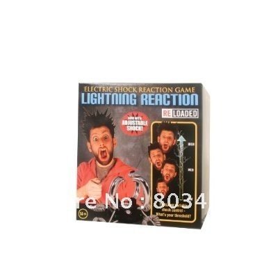 Perfect gift for your children, friends or yourself. Lightning Reaction Reloaded Electric Shock shocking Game Toy gift