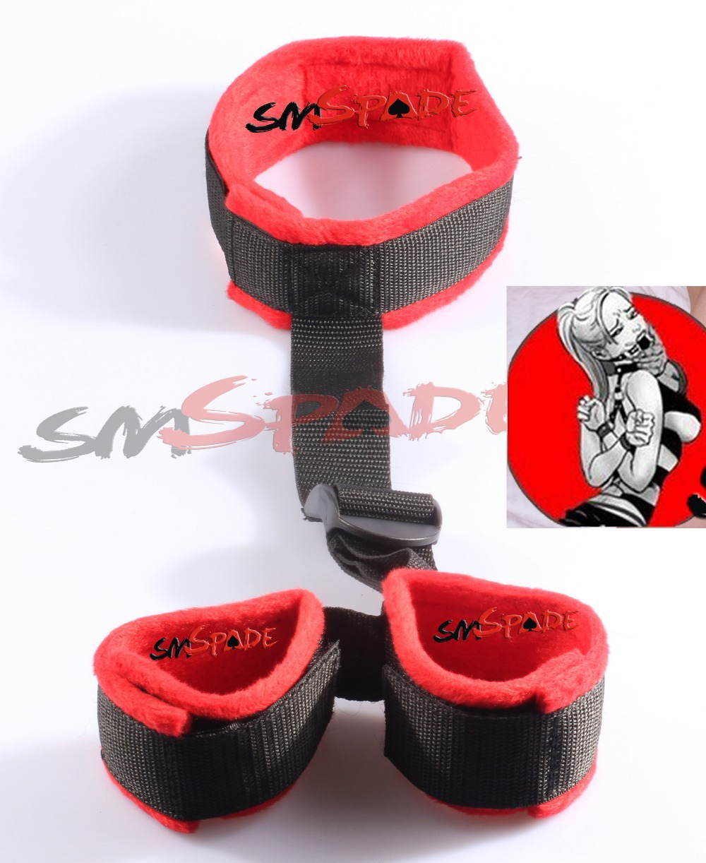 Free Shipping Velvet Wrist Cuffs to Collar Restraint Set Adult Sex Toy Bedroom Game Sex Tools<br><br>Aliexpress