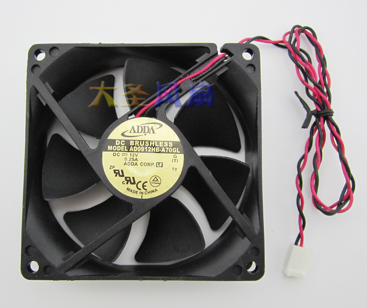 New Oriignal AD0912HB-A70GL ADDA 9CM 9225 12V 0.25A power supply computer cooling fan(China (Mainland))