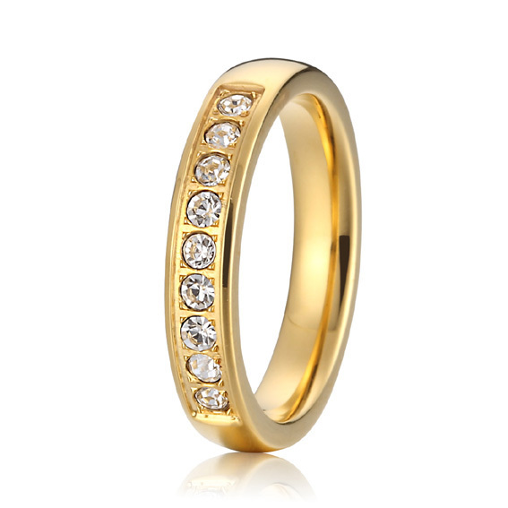 custom 18k gold plated alliance unique  titanium wedding bands 2015 new fashion jewelry eternity rings for women<br><br>Aliexpress