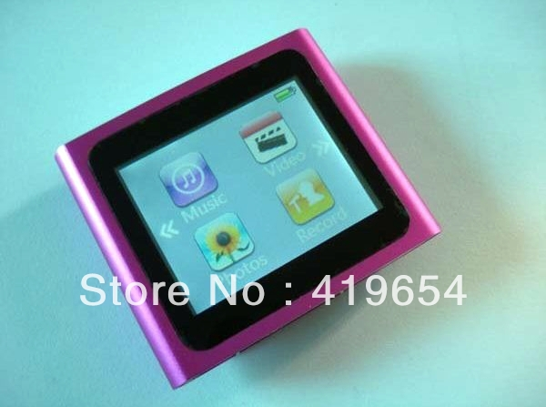 6TH Gen Touch Screen MP4 Player 16GB 1.8 Inch MP3 Player High Quality Best Gift MP3 100PCS DHL EMS Free Shipping(China (Mainland))