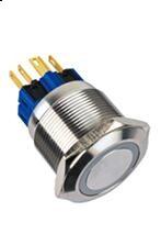 GQ25-11E/S 25mm 12V Red LED ring illuminated Pushbutton switch IP65(China (Mainland))