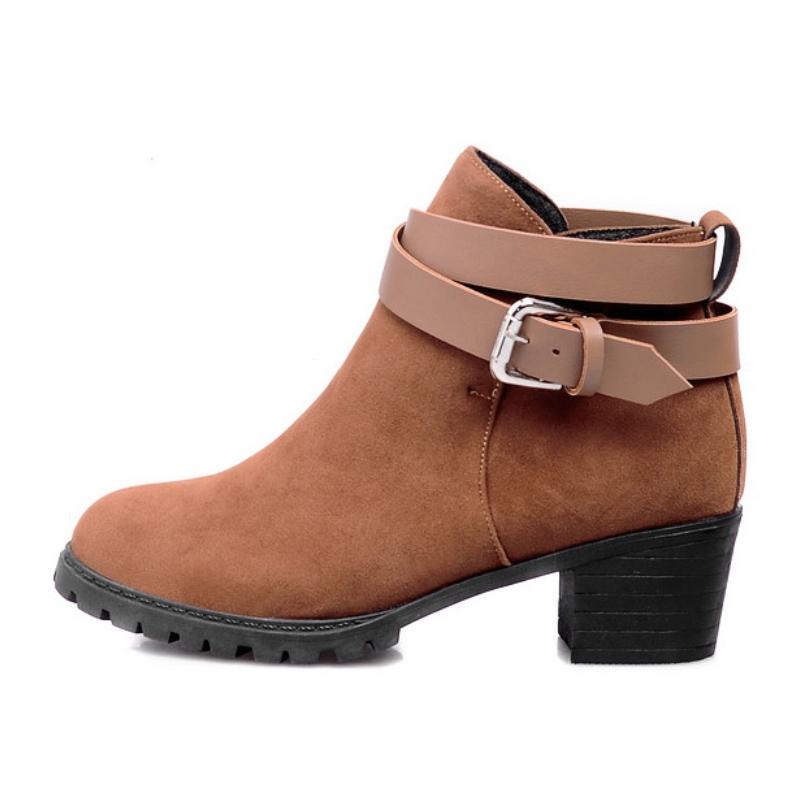 plus size 34 43 boots shoes vintage square heels