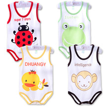 1PCS Children pajamas Spring summer newborn baby rompers sleeveless sleepping bag clothing jumpsuit baby girls boys clothes