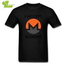 T Saya Menerima Monero Cryptocurrency Pink T-Shirt Pria Kerah Bulat Lengan Pendek Tees Hot Sale Dewasa 100% Katun(China)