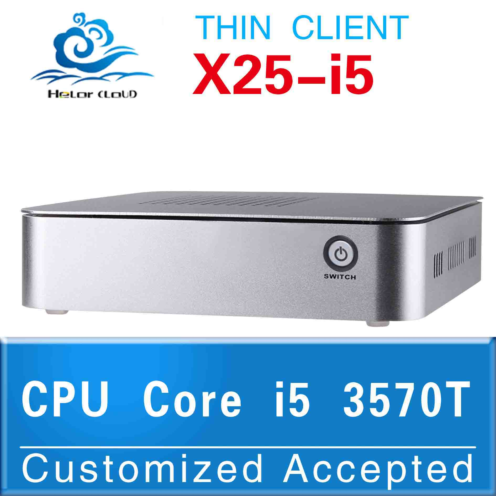 New arrival!! promotional price mini linux embedded pc desktop computers i5 thin client with hdmi(China (Mainland))