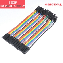40pcs Dupont Cable For Arduino Dupont Wire Jumper 10cm 2.54mm 1p Female To Female Cables Hembra Hembra Jumper Wire Dupont Cable