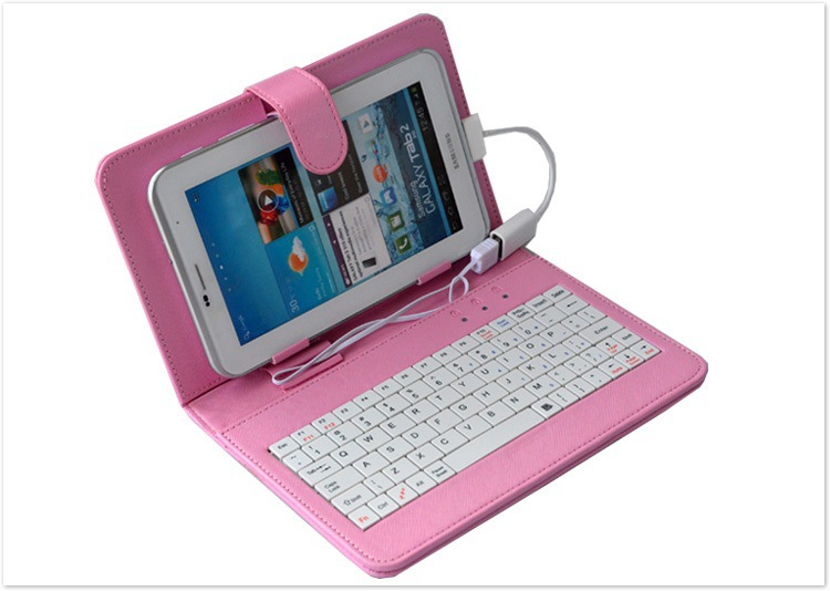 top 50pcs 7 inch Tablet PC keyboard leather case Holster universal flat panel protective cover(China (Mainland))